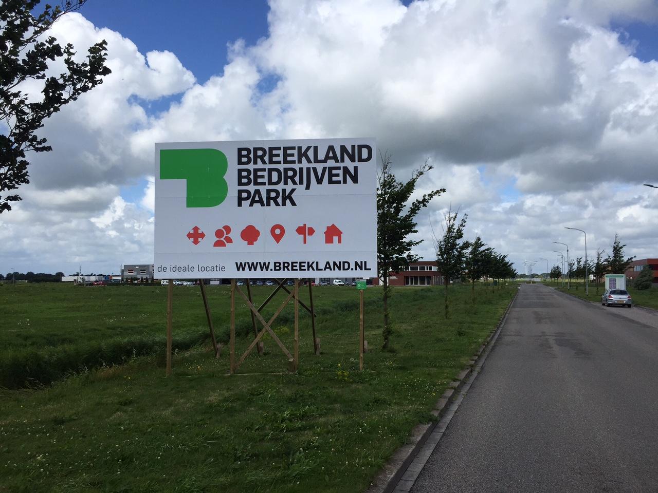 Nieuw bouwbord Breekland