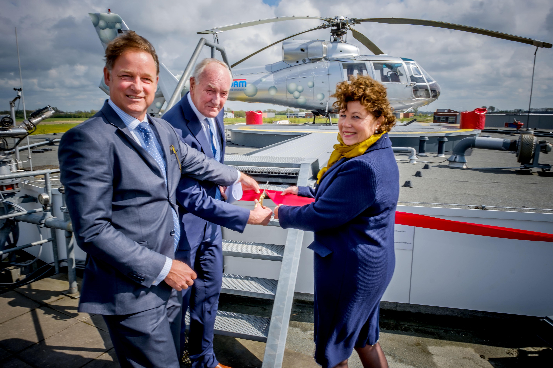 Helikopterplatform geopend door Commissaris van de Koning